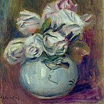 Sotheby's - Pierre Auguste Renoir - White Roses