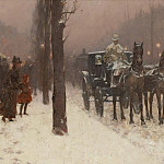 Sotheby's - Frederick Childe Hassam - Paris, Winter Day, 1877