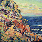 Картины с аукционов Sotheby's - Armand Guillaumin - Rocks at Agay, 1893