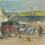 The Carriages, 1880, Eugene Boudin