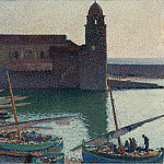 Картины с аукционов Sotheby's - Henri Martin - The Port of Collioure