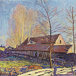 Sotheby's - Alfred Sisley - The Mills of Moret, Frost, Evening Effect, 1888