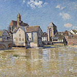 Картины с аукционов Sotheby's - Alfred Sisley - The Bridge of Moret, April Morning, 1888