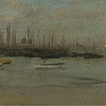 Картины с аукционов Sotheby's - James McNeill Whistler - Blue and Opal - Herring Fleet