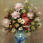 Sotheby's - Marcel Dyf - Peonies and Anemones, 1984