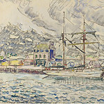 Картины с аукционов Sotheby's - Paul Signac - The Port of Paimpol, Bretagne, 1929