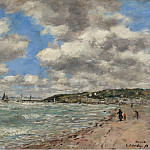 Shore of Deauville, 1896, Эжен Буден