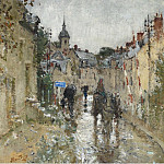 Sotheby's - Pierre-Eugene Montezin - Village under the Rain