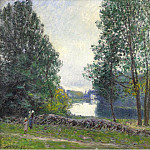 Sotheby's - Alfred Sisley - The Banks of the River Loing, 1896