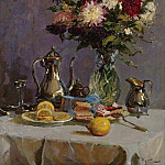 Sotheby's - Vladimir Pchelin - Still Life with Teapot and Flowers