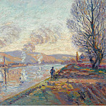 The Seine at Rouen, 1890, Арман Гийомен