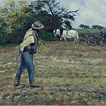The Sower and the Ploughman, Montfoucault, 1875, Camille Pissarro