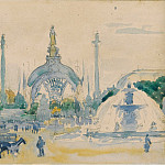 Картины с аукционов Sotheby's - Henri Edmond Cross - The Concorde Square during the World Exposition, 1900