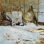 Sotheby's - Maxime Maufra - Cabins under the Snow, 1891
