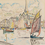Картины с аукционов Sotheby's - Paul Signac - Sailers in the Port, 1920s