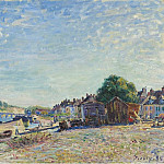 Картины с аукционов Sotheby's - Alfred Sisley - The Banks of Loing at Saint-Mammes, 1885