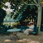 Sotheby's - Albert Andre - Reading at the Garden, 1903