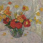 Картины с аукционов Sotheby's - Leon De Smet - Bouquet of Flowers, 1917