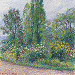 Картины с аукционов Sotheby's - Camille Pissarro - The Garden of Octave Mirbeau at Damps (Eure), 1892