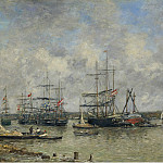 Sotheby's - Eugene Boudin - Bordeaux, Three-Master on the Garonne, 1876