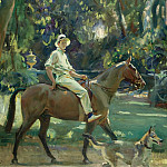 Картины с аукционов Sotheby's - Alfred James Munnings - Return from the Nets, Portrait of Stephen Edward Vivian Smith, 1919