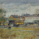 Sotheby's - Frederick Childe Hassam - End of the Trolley Line, Oak Park, Illinois, 1893