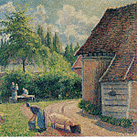 Sotheby's - Camille Pissarro - Peasant House, 1892