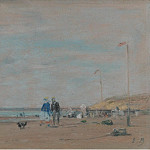 Картины с аукционов Sotheby's - Eugene Boudin - Scene on the Beach, 1864
