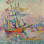 Картины с аукционов Sotheby's - Paul Signac - The Port of Golden Horn, 1907