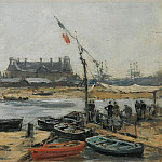 Trouville, View of Ports Landing Stage, 1872, Eugene Boudin