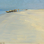 Sotheby's - Peder Severin Kroyer - Fishermen on the Beach at Skagen, 1891