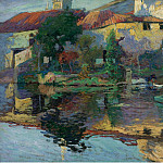 Картины с аукционов Sotheby's - Paul Madeline - The House at Saintonge by the Water