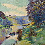 Картины с аукционов Sotheby's - Armand Guillaumin - The Echo Rock at Crozant, 1905