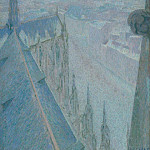 Sotheby's - Michel Auguste Colle - Nancy, View of the Cathedral, Saint Eprve (Blue), 1907