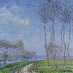 Sotheby's - Gustave Loiseau - Trees on the Bank of the River, 1899