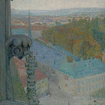 Sotheby's - Michel Auguste Colle - Nancy, View of the Cathedral, Saint Eprve (Autumn), 1906