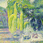 Картины с аукционов Sotheby's - Henri Edmond Cross - Swans Family, 1899-1900