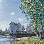 Картины с аукционов Sotheby's - Alfred Sisley - The Bridge of Moret, Morning Effect, 1891