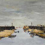 Картины с аукционов Sotheby's - Eugene Boudin - Trouville, the Jetties, 1882