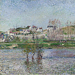 The Flood at Pontoise, 1882, Camille Pissarro
