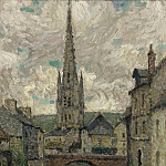 Sotheby's - Henri Le Sidaner - The Church, Honfleur, 1914