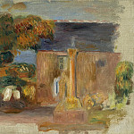 Sotheby's - Pierre Auguste Renoir - Landscape at Bretagne, the House and the Altair, 1902