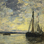 Sailer on the Water, 1885-90, Eugene Boudin