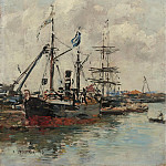 Sotheby's - Eugene Boudin - Trouville, the Port, 1894