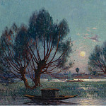 Картины с аукционов Sotheby's - Ferdinand du Puigaudeau - Clear Moon above the Baks of the Loire