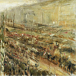 Картины с аукционов Sotheby's - Max Liebermann - Entrance of the Troops into Pariser Platz, 1918