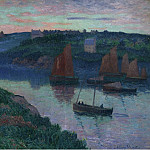 Картины с аукционов Sotheby's - Henry Moret - Fishing Boats in Bretagne, 1897