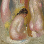 Картины с аукционов Sotheby's - Pierre Auguste Renoir - Three Bathers, 1895
