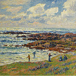 Картины с аукционов Sotheby's - Henry Moret - Gathering of Seaweeds at Nevez, 1908