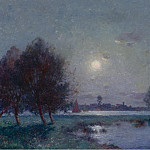 Sotheby's - Ferdinand du Puigaudeau - The Bank of Loire under Clear Moon, 1911